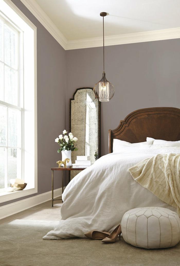 chambre à coucher couleur taupe