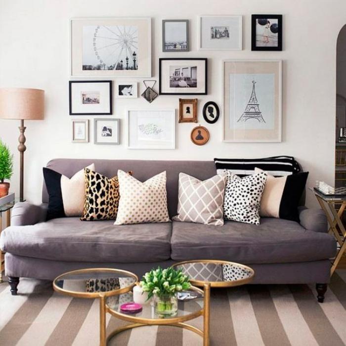 canapé moderne en couleur taupe