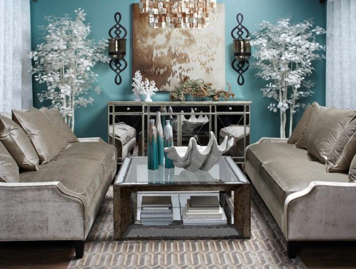 couleur taupe et bleu pour une déco cosy et moderne
