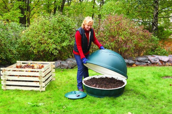 composteur pour fabriquer de l'engrais organique