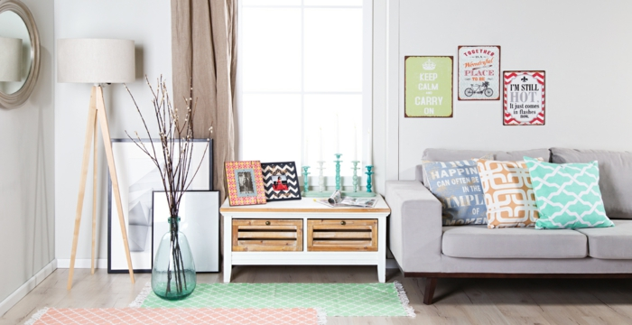 id es d co salon pour une atmosph re douce et l gante. Black Bedroom Furniture Sets. Home Design Ideas
