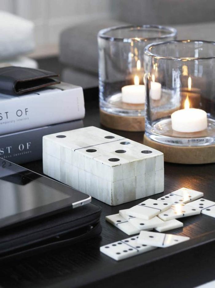 bougies pour la table