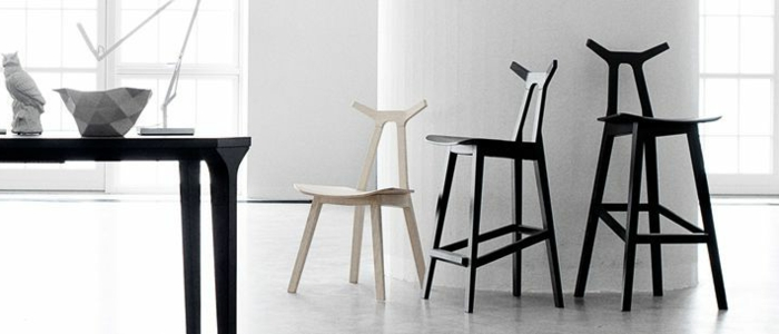 design scandinav tabourets de bar