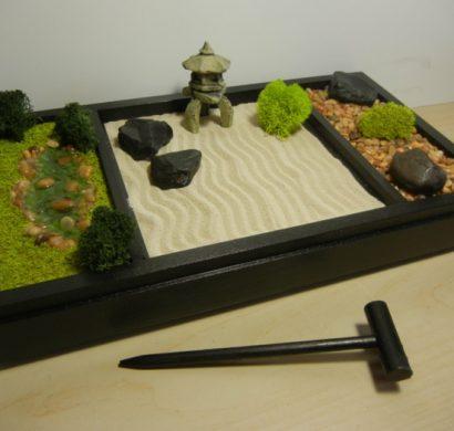 DIY un jardin zen miniature – pour décorer la pièce et relaxer