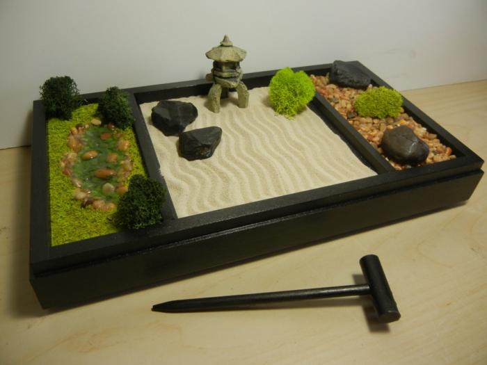 Jardin Zen Japonais Miniature diy un jardin zen miniature - pour décorer la pièce et relaxer
