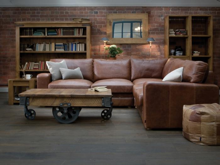 en cuir canapé d angle convertible cosy et moderne