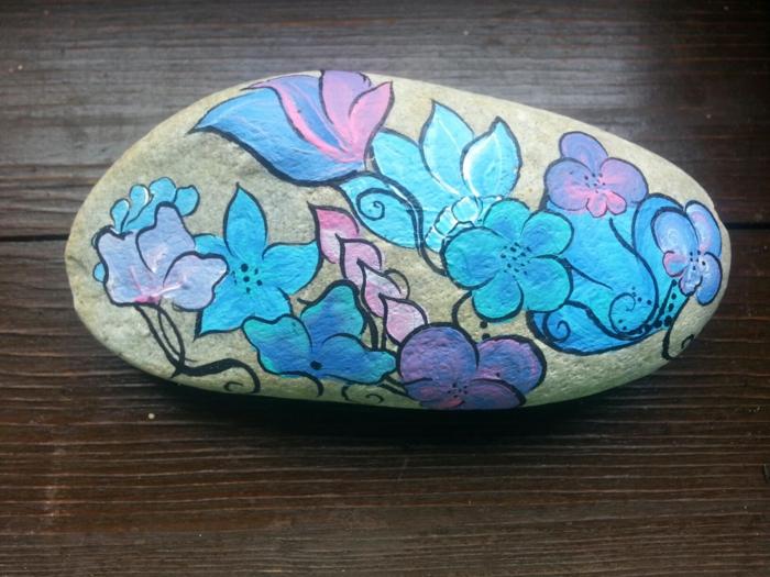 fleurs pour peinture sur galets