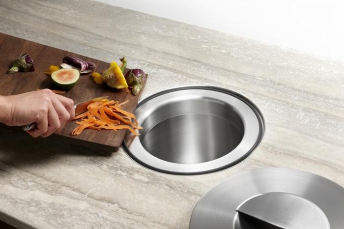 Comment choisir une poubelle cuisine pratique et tendance - Poubelle cuisine encastrable ...