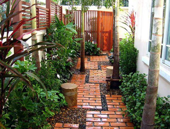 idée d'allée de jardin originale
