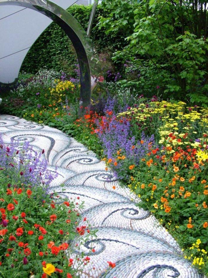 idée originale sentier de jardin