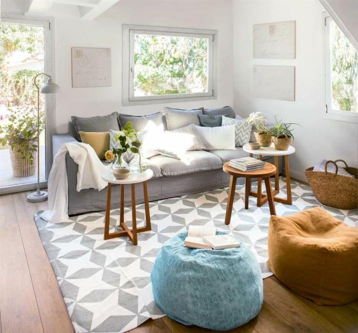 combinaison du tapis et canapé