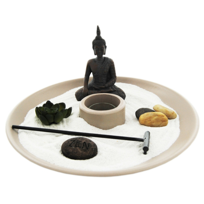 un joli jardin zen miniature pour méditer et relaxer