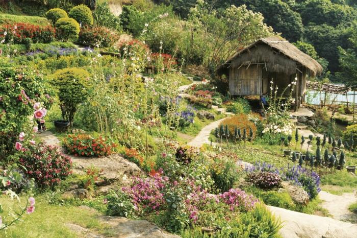 jardin à l'anglaise campagne