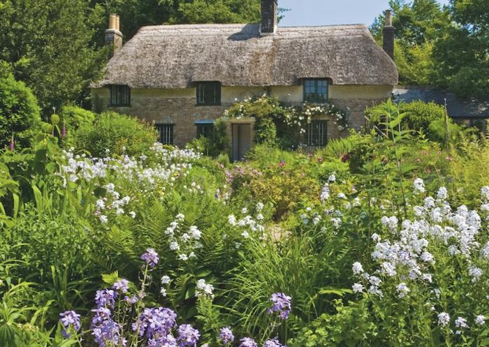 jardin à l'anglaisе et maison