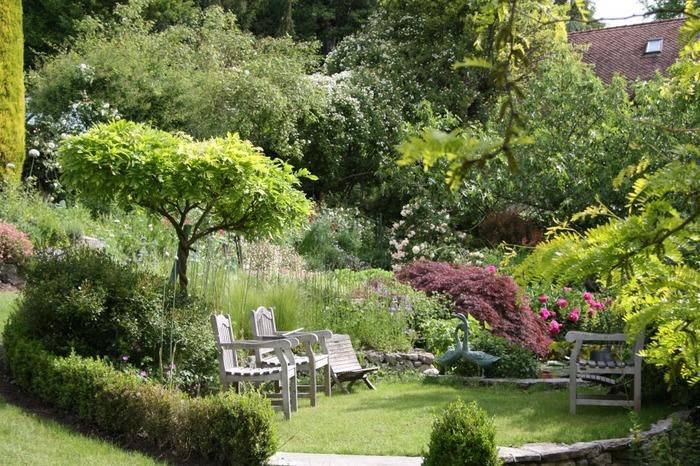 jardin à l'anglaise harmonieux