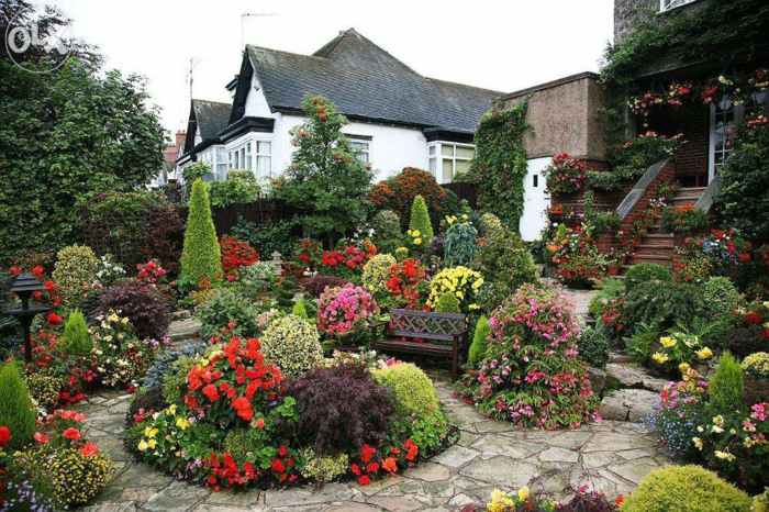 jardin à l'anglaise quatre saison