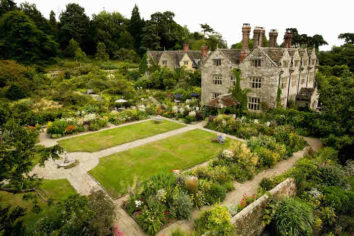 jardin à l'anglaise vu d'en haut