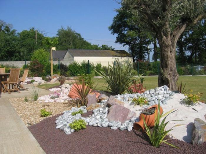 jardin de rocaille cour