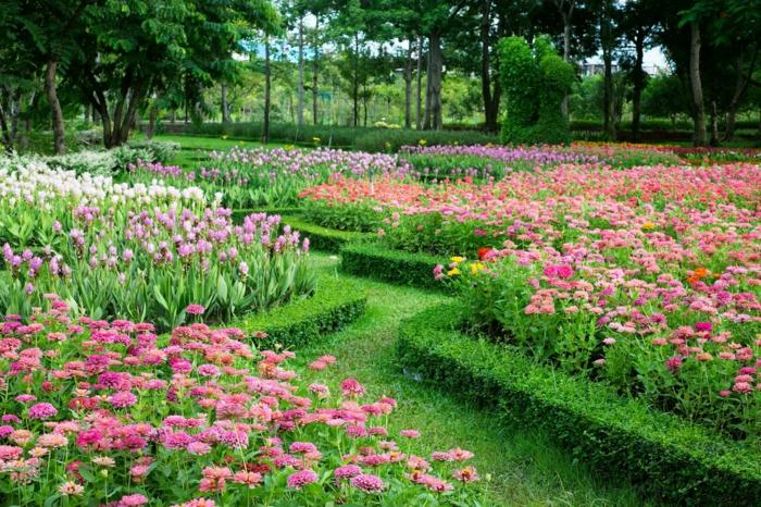 jardin paysager à l'anglaise