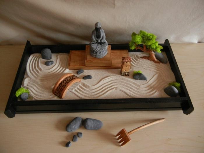 Diy un jardin zen miniature pour d corer la pi ce et relaxer for Jardin zen interieur