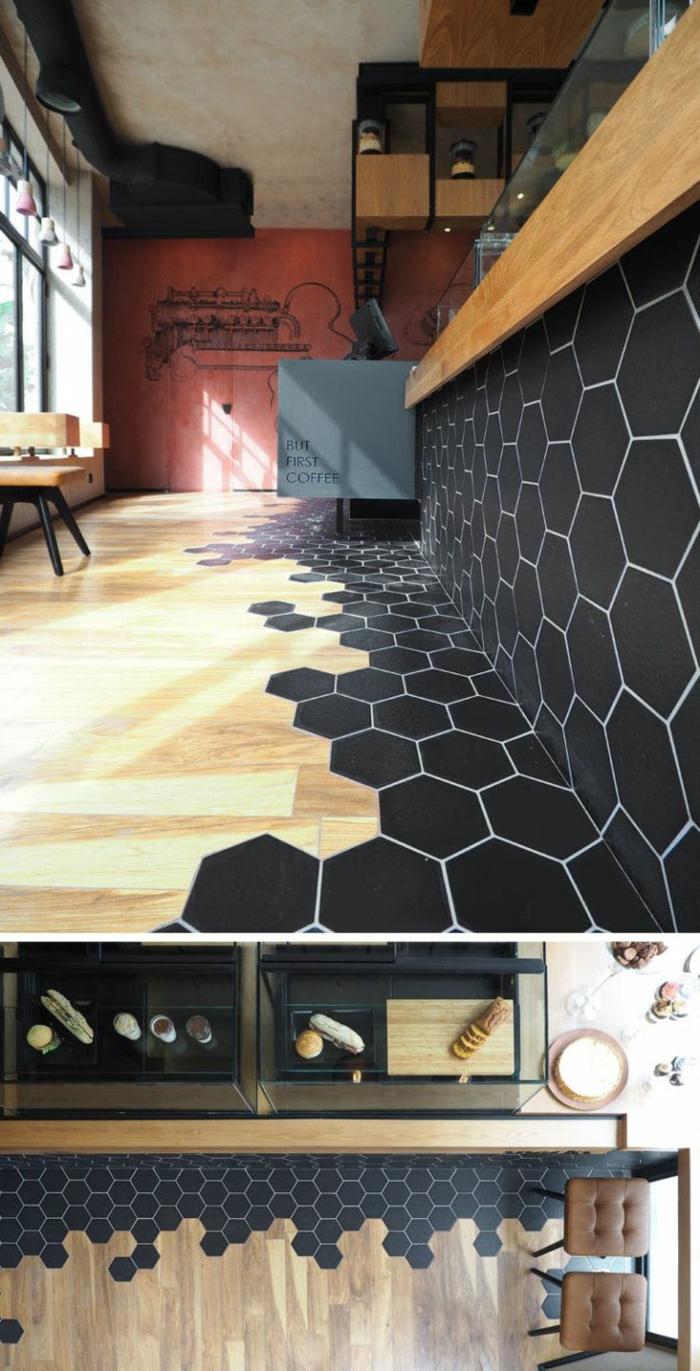 mélange parquet carrelage pour un intérieur moderne