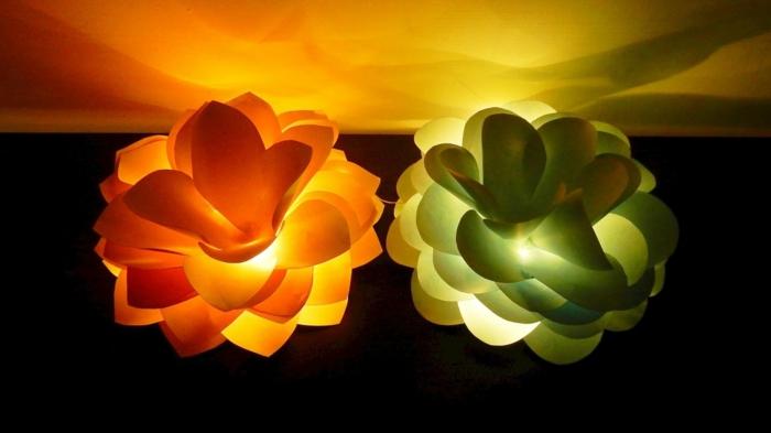 luminaires fleurs géantes
