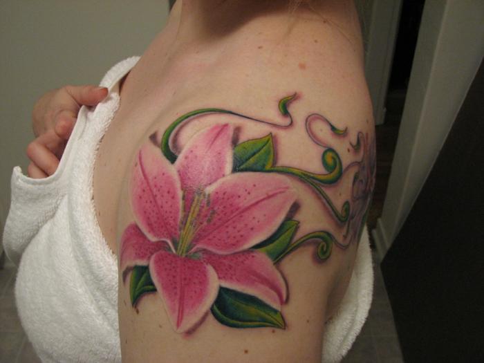 lys tatouage 3d