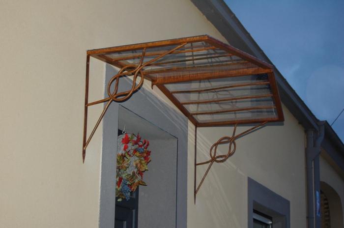 marquise vernis en plexiglas