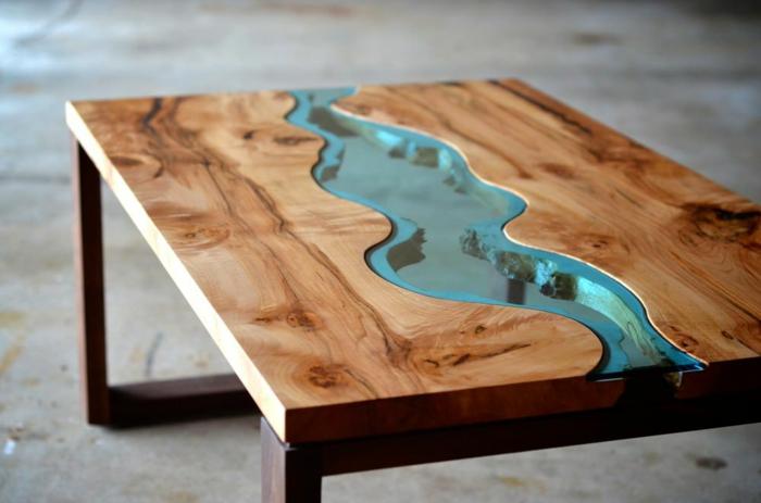 meuble en bois peau de banane