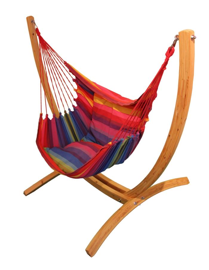 chaise hamac support en bois