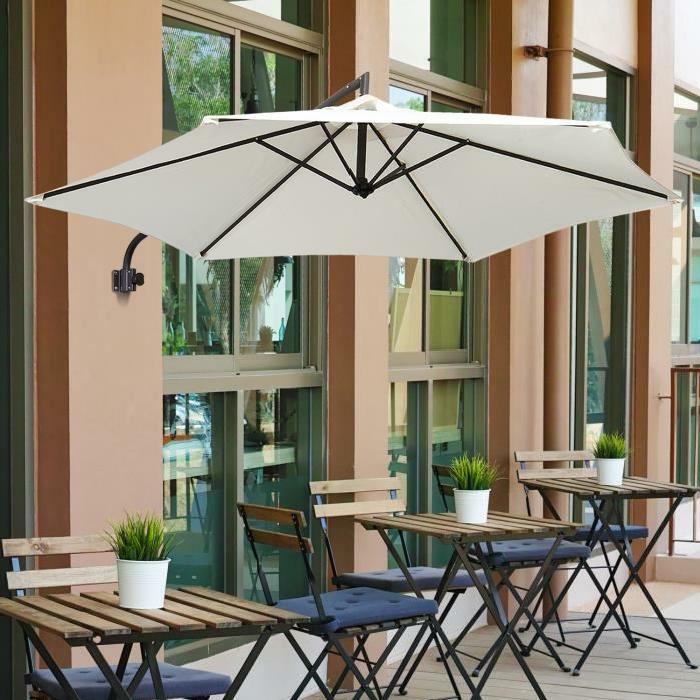 Parasol mural pour ombrager votre tarrasse ou balcon for Store mural exterieur