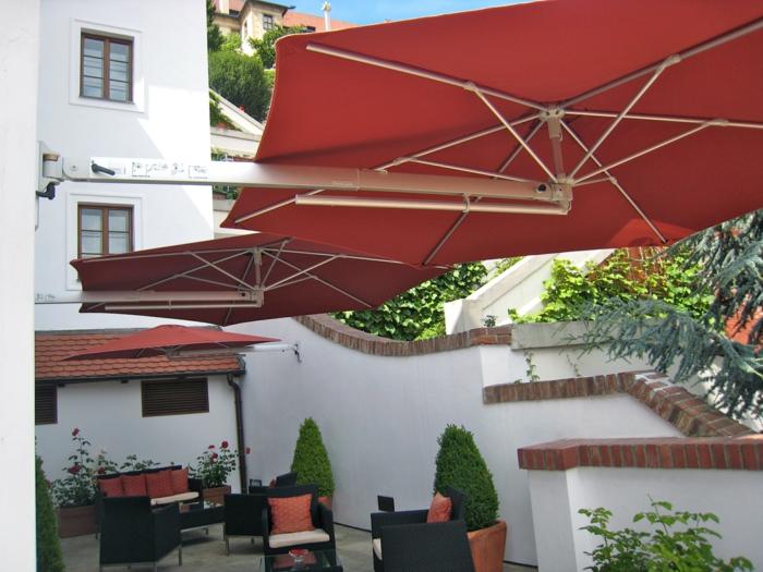 parasol mural téléscopique