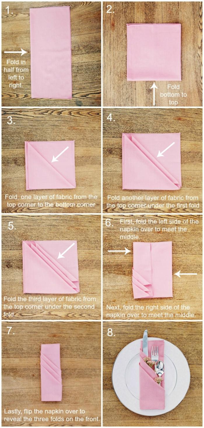 pliage-serviette-pochette-facile