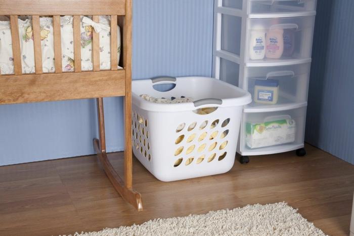 modèle pvc panier à linge pour la chambre bébé