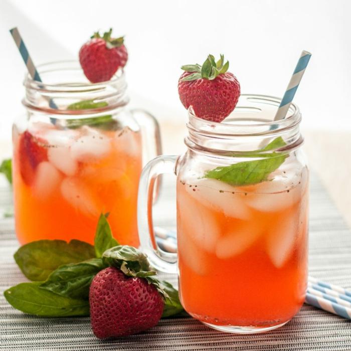 recette citronnade fraises