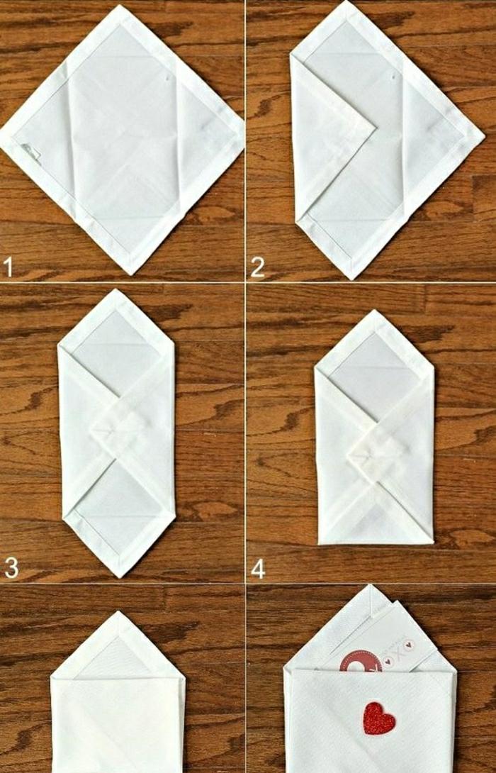 diy serviette forme enveloppe pliage serviette