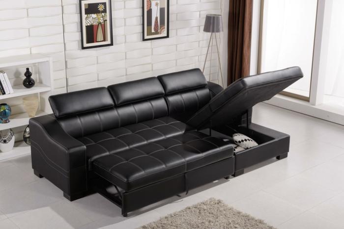 similicuir canapé d angle convertible moderne et confortable pour décorer votre salon