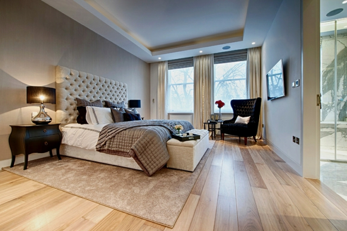 décorer la chambre à coucher en couleur taupe pour une ambiance cocooning