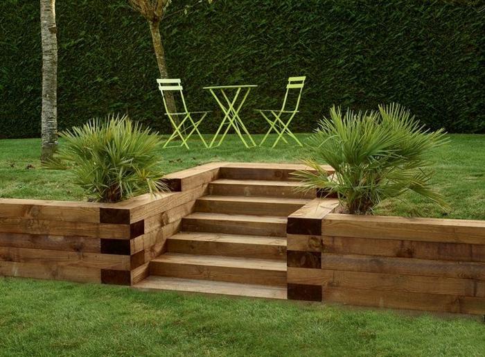 terrassement de jardin bois