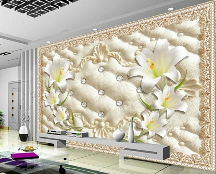 3d peinture murale fleur de lys