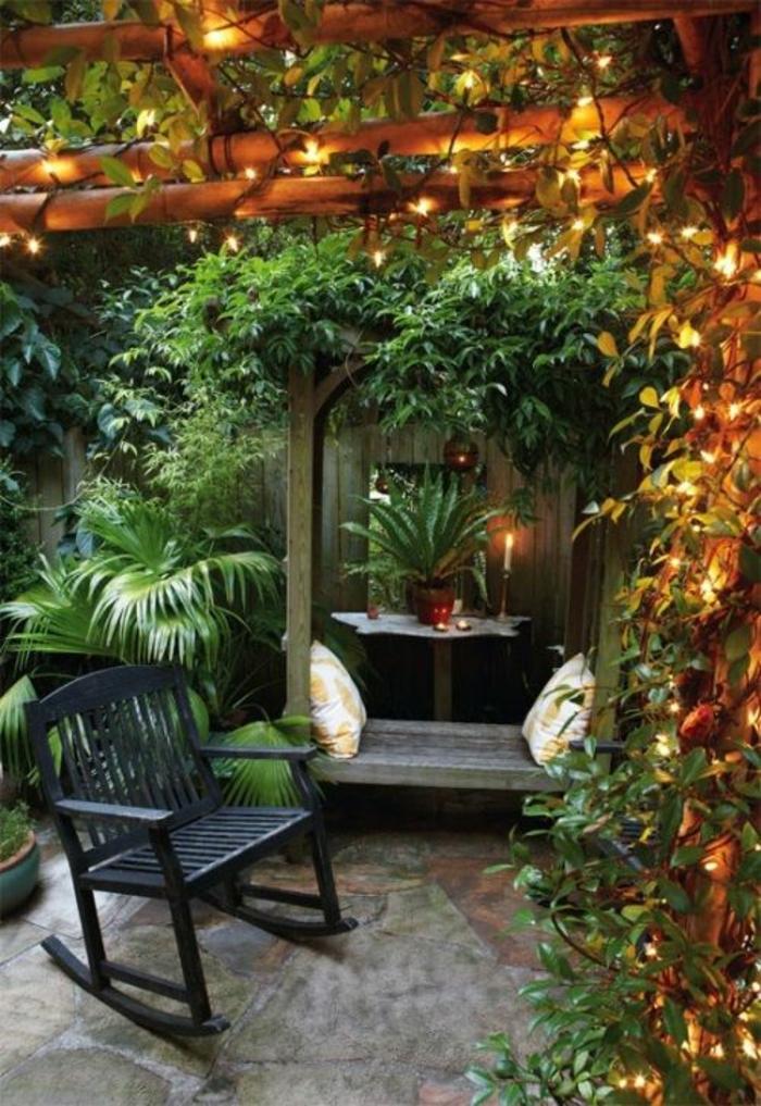 ambiance cheleureuse pour votre jardin guirlande lumineuse