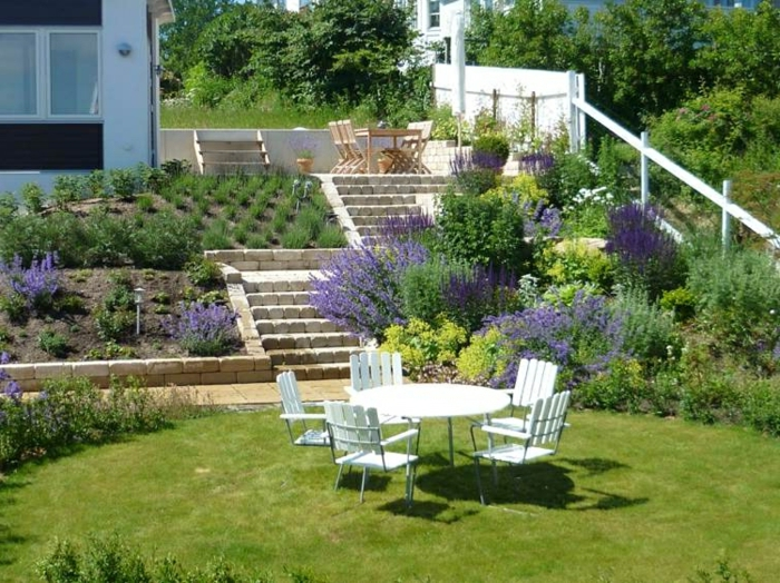 Am nagement jardin en pente id es comment vous faciliter for Jardin en pente amenagement