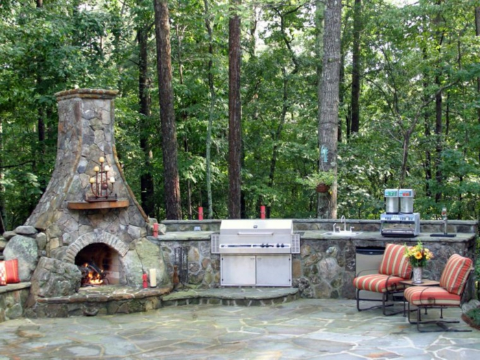 barbecue en plein air cuisine extérieure