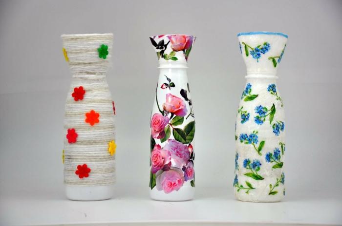 bouteille plastique diy projet de vases