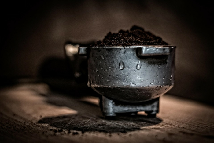 café utilisation de marc de café