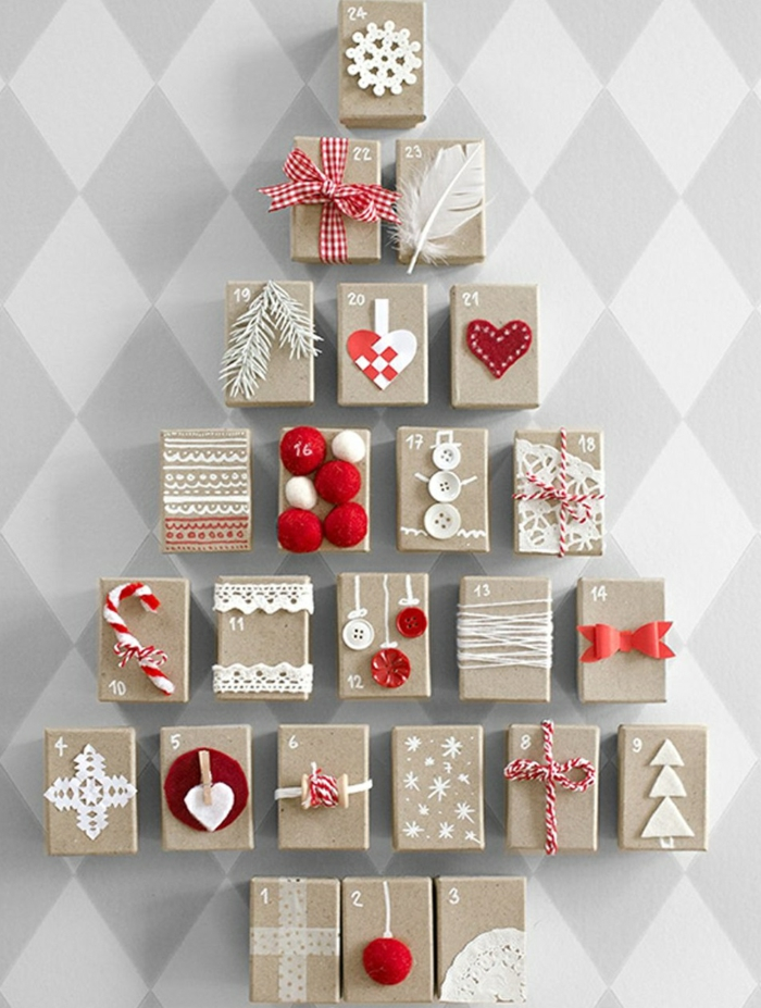 calendrier avec petits cadeaux
