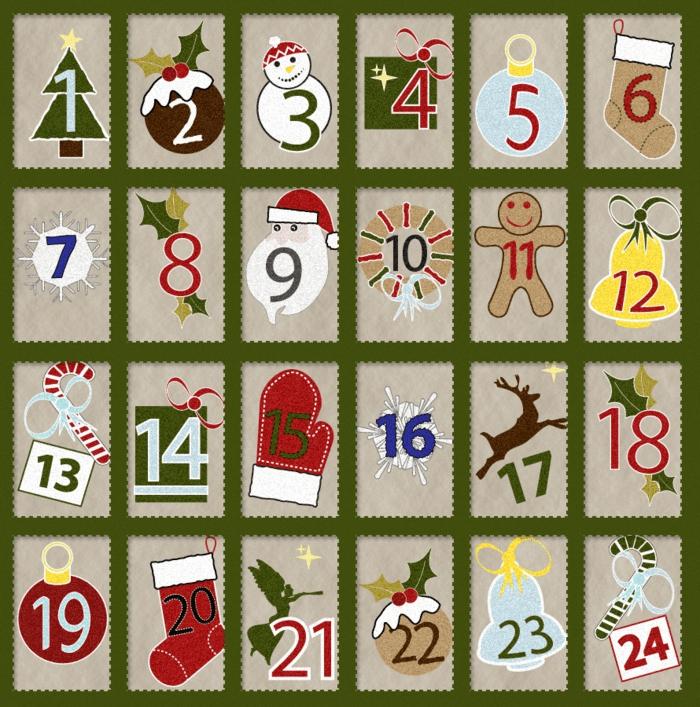 calendrier avent noël