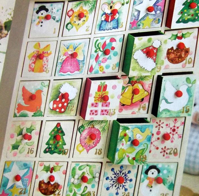 calendrier décorations peintes