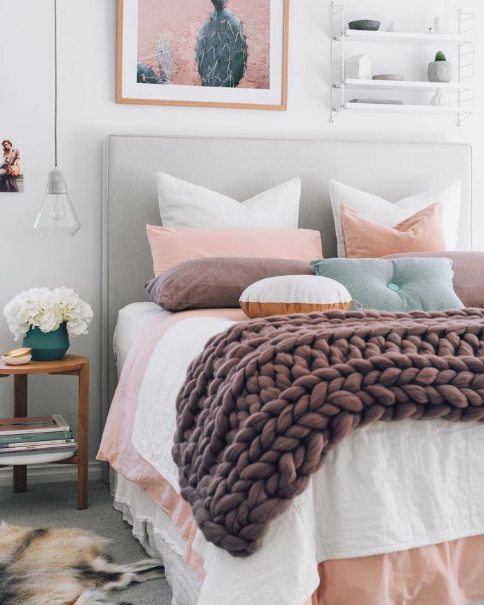 chambre à coucher en style hygge