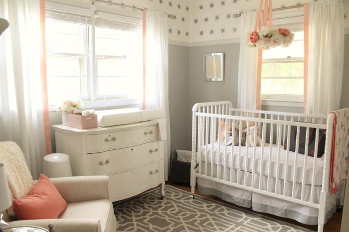 chambre bébé couleur grise